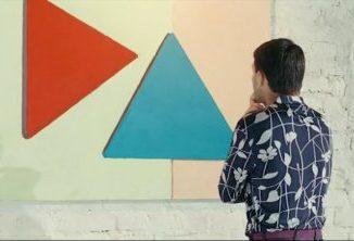 Два треугольника - красный и синий. Кадр из фильма «О чём говорят мужчины» (2010)