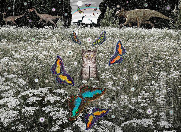 Дмитрий Санджиев. Портрет Мони. Из серии «Метаморфозы полнолуния». 2011. Бумага, карандаш. 67х90