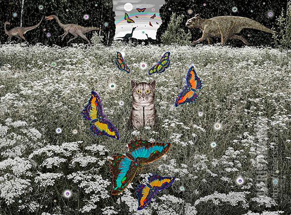 Дмитрий Санджиев. Портрет, из серии «Метаморфозы полнолуния». 2011. Бумага, карандаш. 67х90