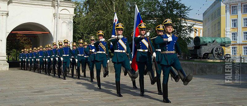Бойцы Президентского полка в Кремле. Фото Андрея Лобанова