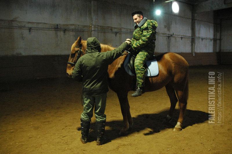 Александр Бунчин берёт урок верховой езды у Михаила Шмаевича
