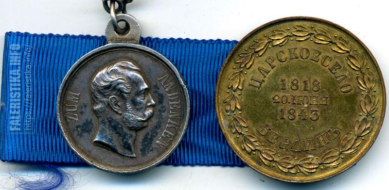 Одна из любимых тем это медали и знаки полковых юбилеев. Да и вообще знаки на тему полков. Две не самые частые медали Медаль в память 50 - летия шефства императора Александра II над Прусским уланским полком (отчеканены 21 золотая и 656 серебряных медалей). Медаль В память 25-летия шефства Прусского короля Фридриха Вильгельма IV над 3-им гренадерским Перновским полком (для выдачи чинам Перновского полка из Пруссии в Россию были присланы 3224 медали из позолоченной бронзы). Из коллекции Андрея Пустоварова