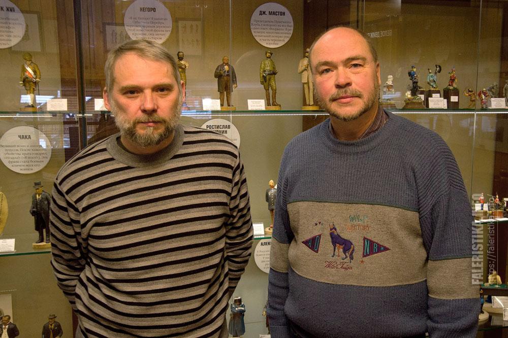 Скульптор Сергей Олюнин и фотограф Андрей Лобанов