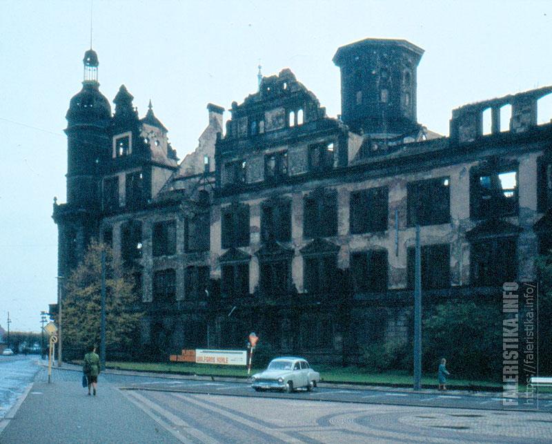 Замок-резиденция саксонских королей в 1982 году