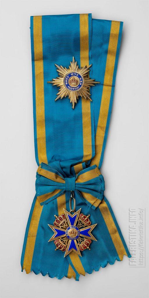 Знак ордена заслуг перед Прусской короной со звездой. Учрежден в 1901 г. I-й тип — знак золотой. Звезда серебряная с позолотой. Коллекция А.Л. Хазина