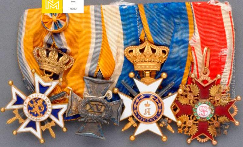 Колодка господина E.J. van Bel, офицера королевства Нидерланды с орденом Св. Станислава 3-й степени