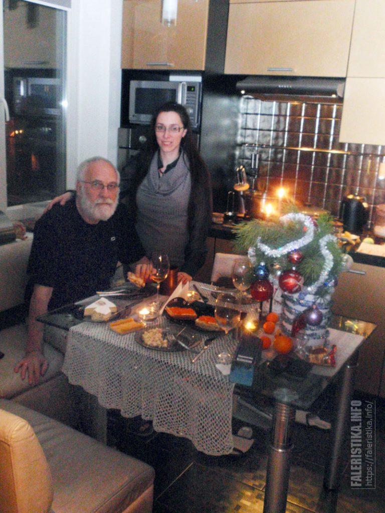 Последний Новый год в Киеве. С женой Еленой. Киев, 31.12.2014. Фото из семейного архива А.И. Рудиченко