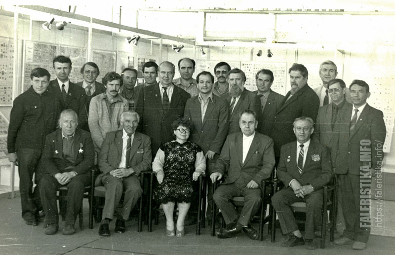 Участники Дней фалеристики на ВДНХ. 20 – 27 августа 1987 г.