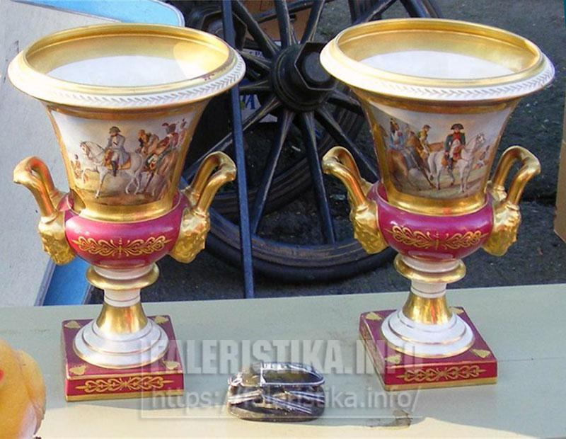 Две вазы. Старый «Севр»