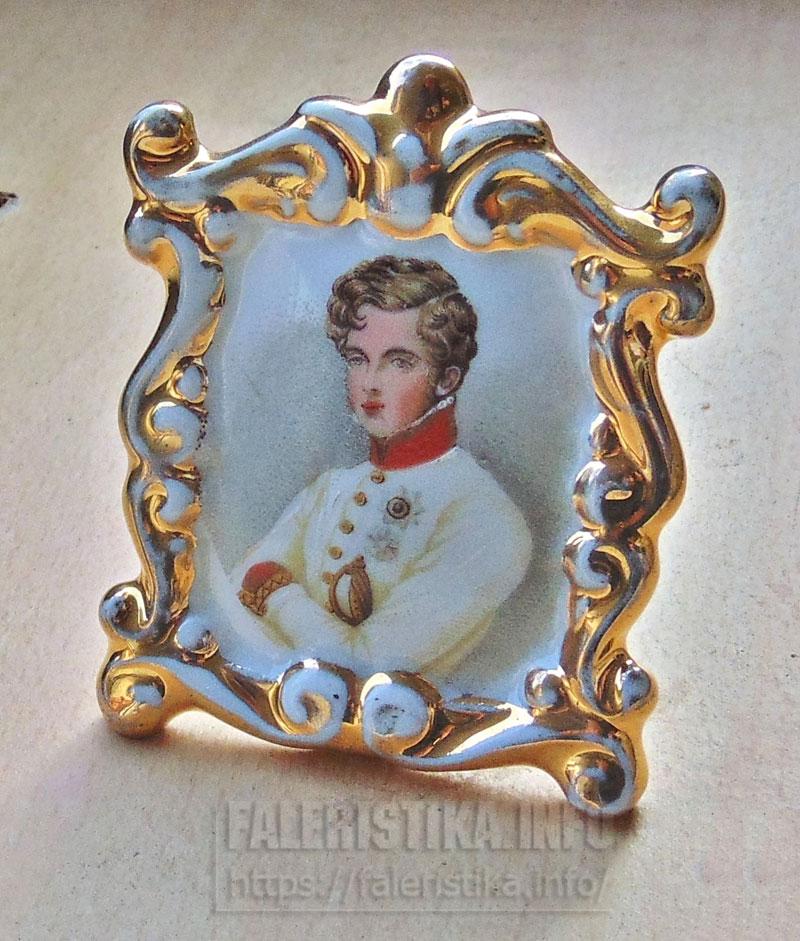 Фарфоровая миниатюра «Сын Наполеона». «Лимож»