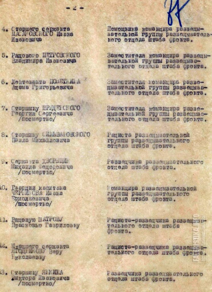 Приказ войскам 2-го Белорусского фронта