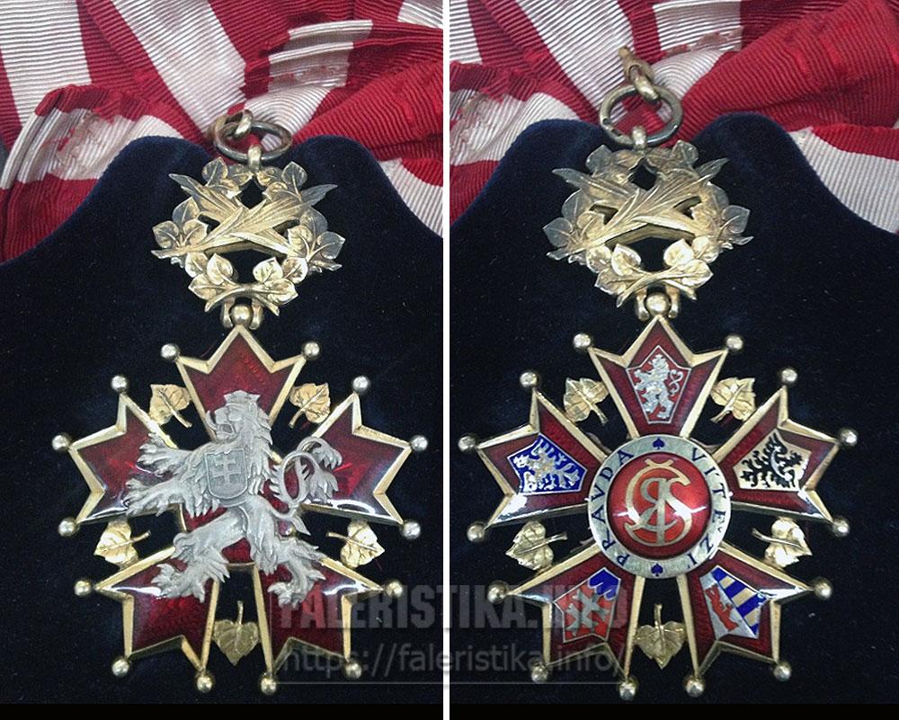 Орден Белого льва. Знак ордена. Аверс, реверс. Первая Чехословакия (1918-1938)