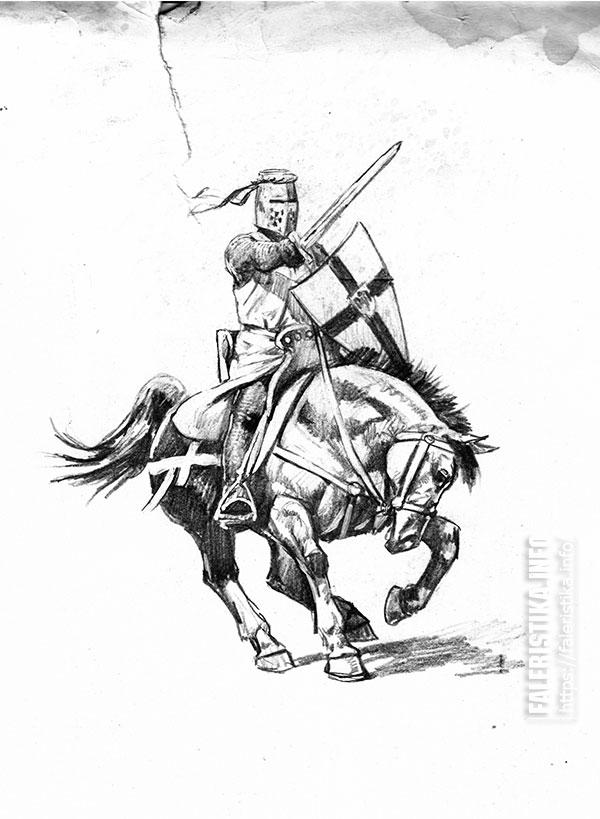 Андрей Каращук. Рыцарь, XIII в. Частная коллекция