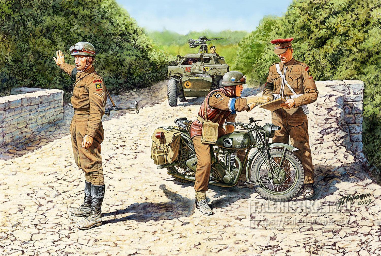 Андрей Каращук. Британские мотоциклисты военной полиции и службы связи. Европейский театр боевых действий,1944-45 годы. Bronco Models