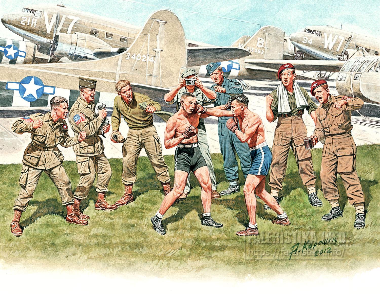 Андрей Каращук. Американские и британские парашютисты накануне операции «Оверлорд», 1944 г. Master Box Ltd.