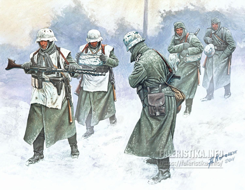 Андрей Каращук. Немецкая пехота зима 1941-42 годов. Master Box Ltd.