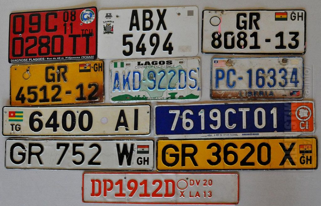 Регистрационные автомобильные знаки (Африка)