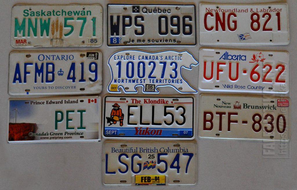 Регистрационные автомобильные знаки (Канада)