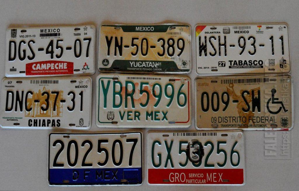 Регистрационные автомобильные знаки (Мексика)
