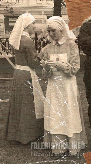 Севастопольский променад, начало 20 века. Сёстры милосердия