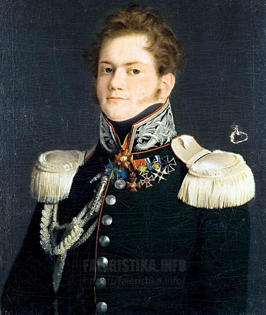 Тулов Федор Андреевич (1792? — 1855) (?) Портрет Александра Николаевича Муравьёва (1792—1863). Государственный исторический музей Холст, масло. 1817 г.