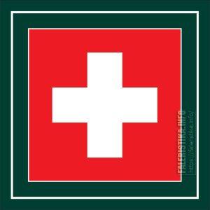 Гельветический крест - герб Щвейцарии