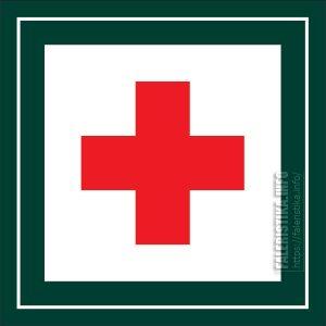 Обратный по цвету гельветический крест - эмблемма МОКК