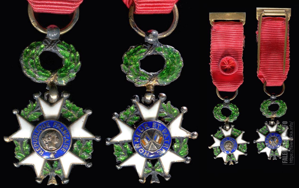Фрачный знак офицера ордена Почётного легиона. Третья Французская республика (1870-1940)