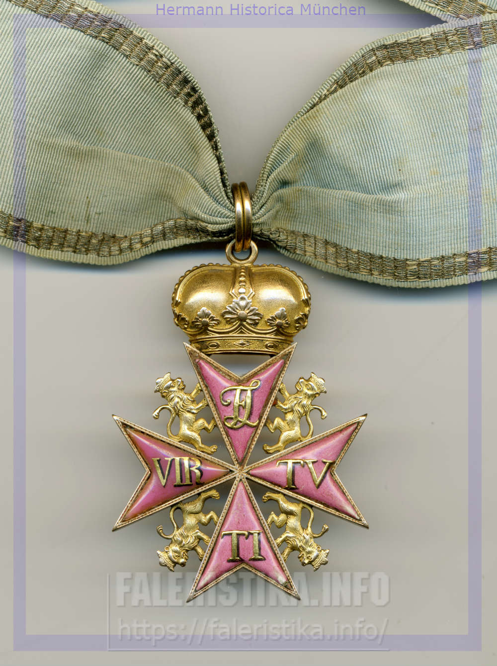 Знак ордена «За военные заслуги» (Pour la vertu militaire Orden am Band), ландграфство Гессен-Кассель, 1769. Hermann Historica München