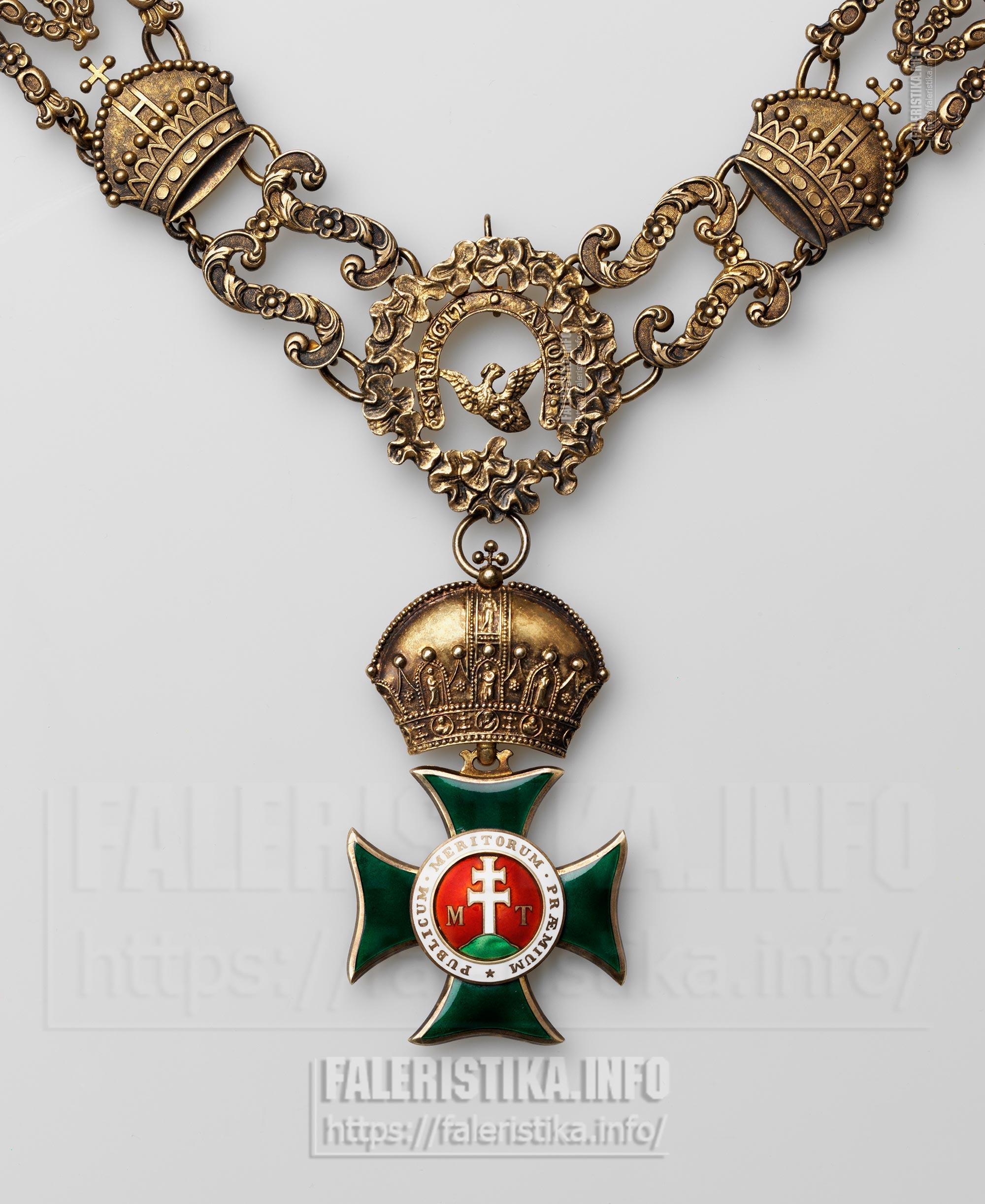 Орден Св. Стефана. Знаки Большого Креста. Цепь. Фрагмент. Знак. Аверс. Частная коллекция