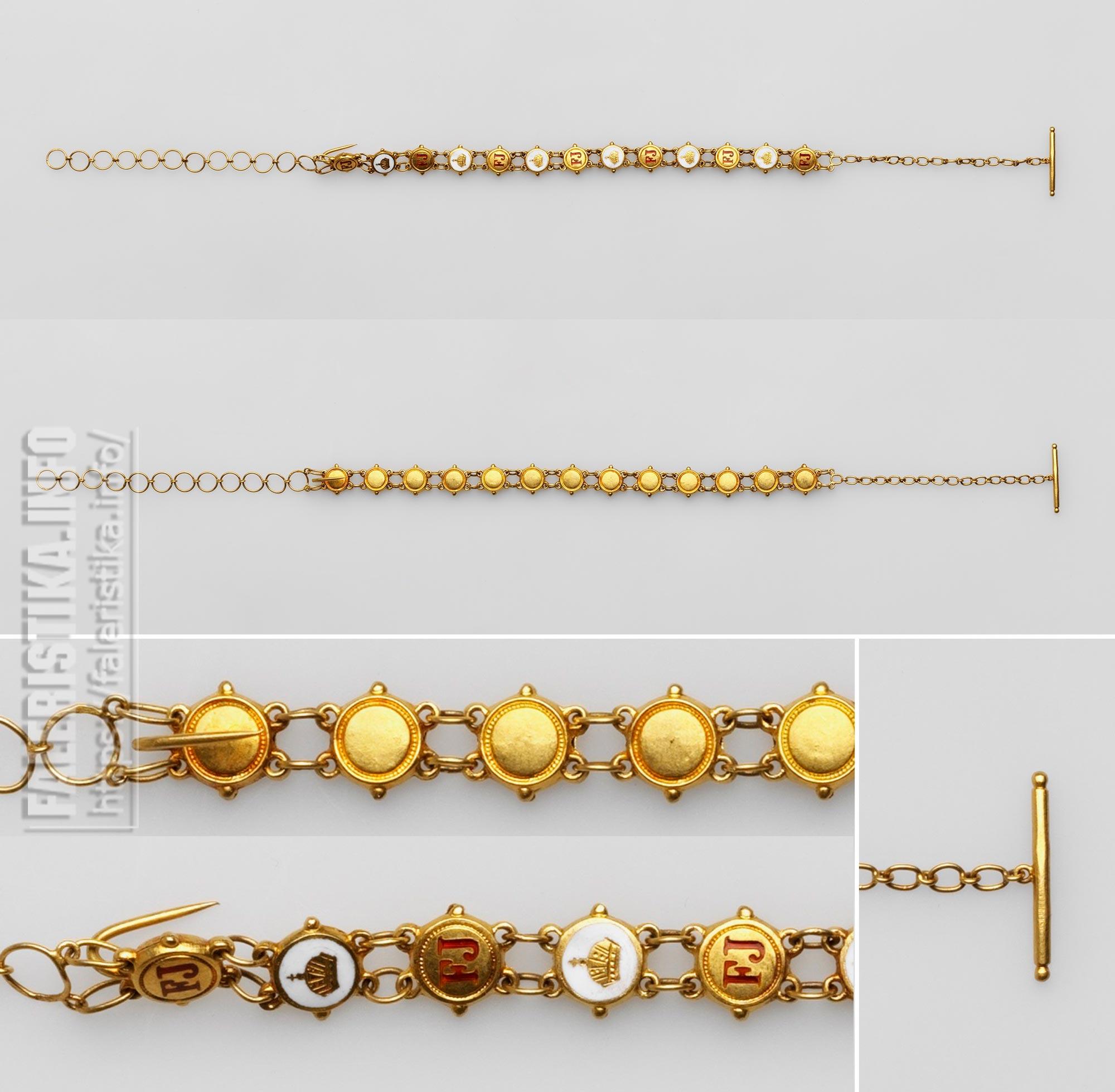 Орден Франца-Иосифа. Миниатюрная цепочка, установленная для кавалера. Аверс. Реверс. Частная коллекция.