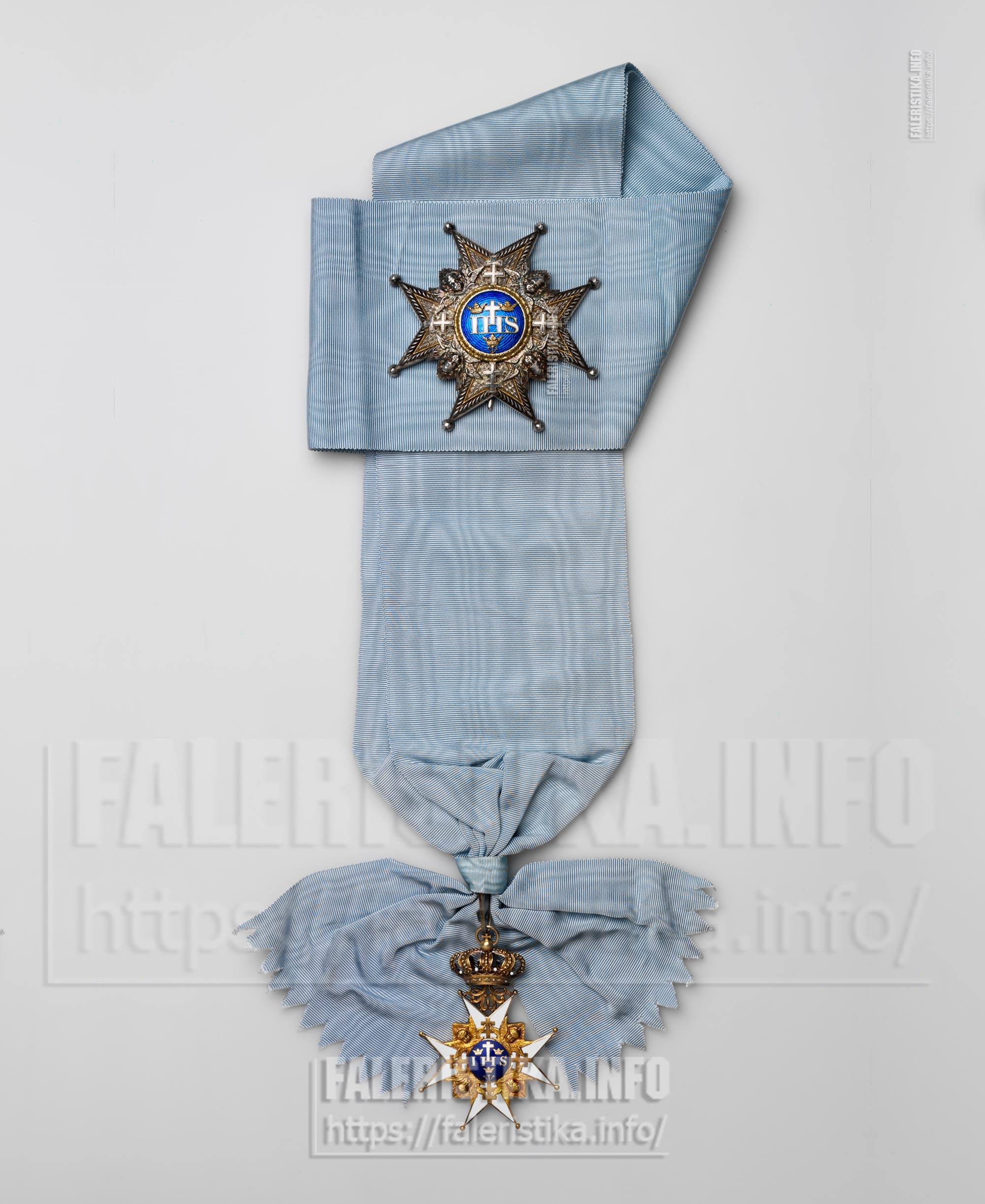 Орден Серафимов. Учрежден в 1748 г. Знак, звезда, лента. Комплект принадлежал императору  (негусу) Эфиопии (Абиссинии) Хайле Силассие