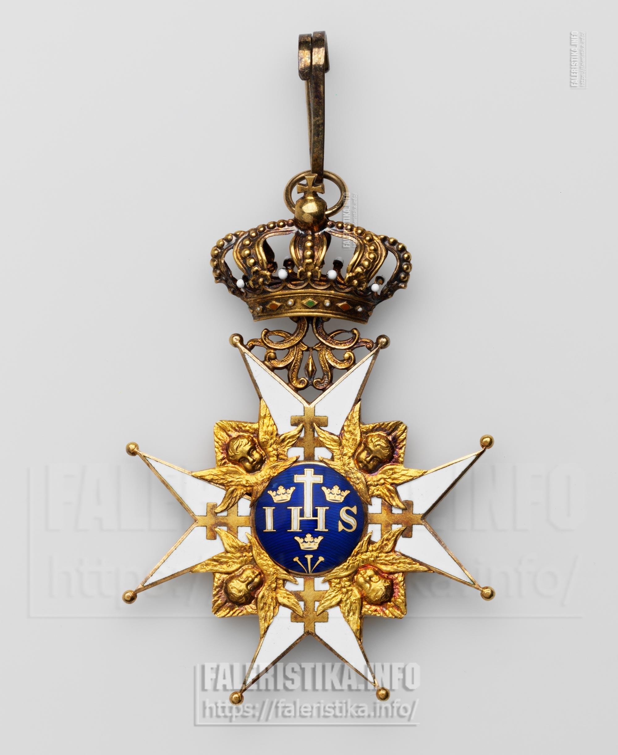 Орден Серафимов. Учрежден в 1748 г. Знак. Принадлежал императору  (негусу) Эфиопии (Абиссинии) Хайле Силассие