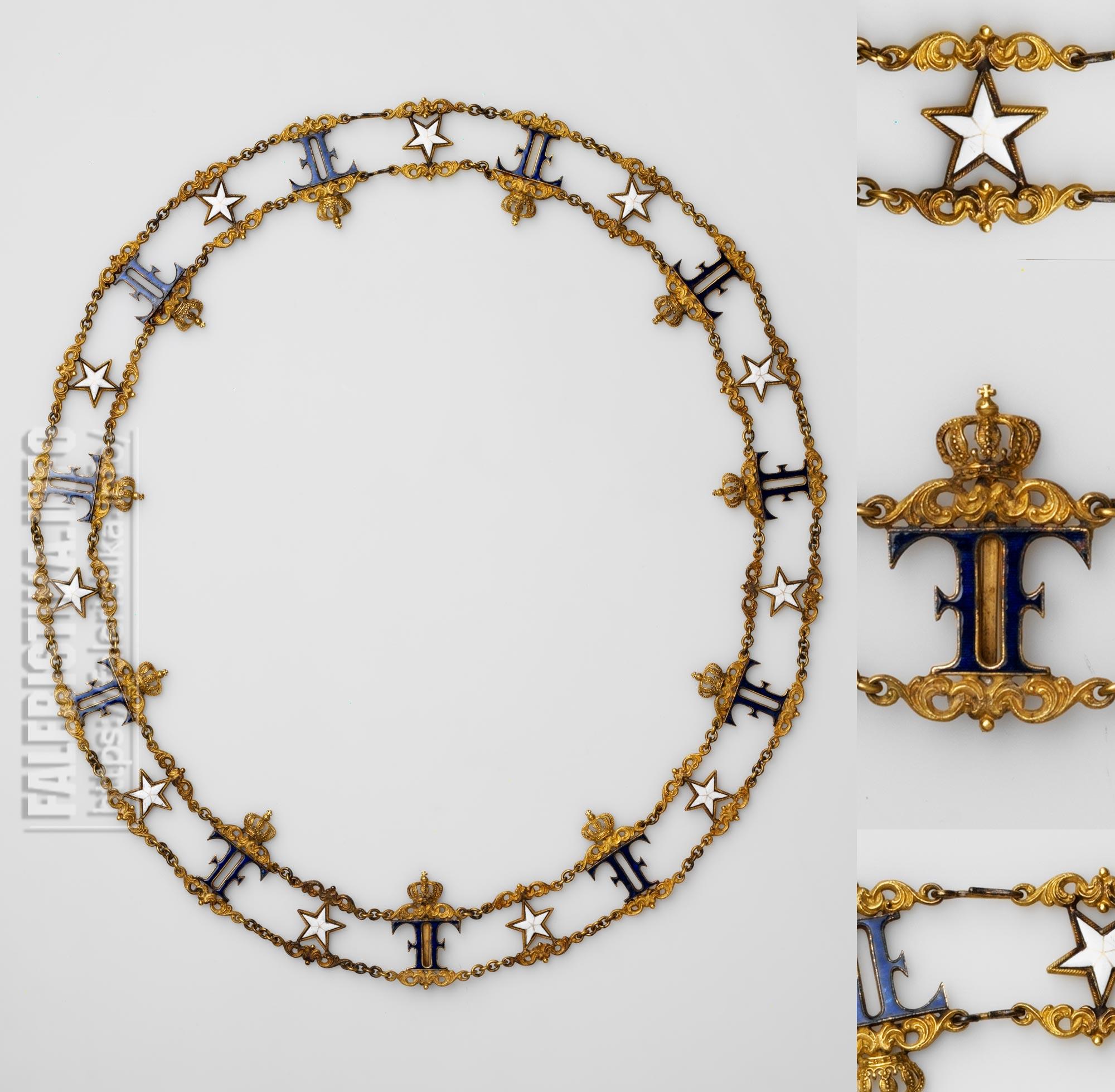 Орден Полярной Звезды. Цепь. Аверс. Учрежден в 1748 г.