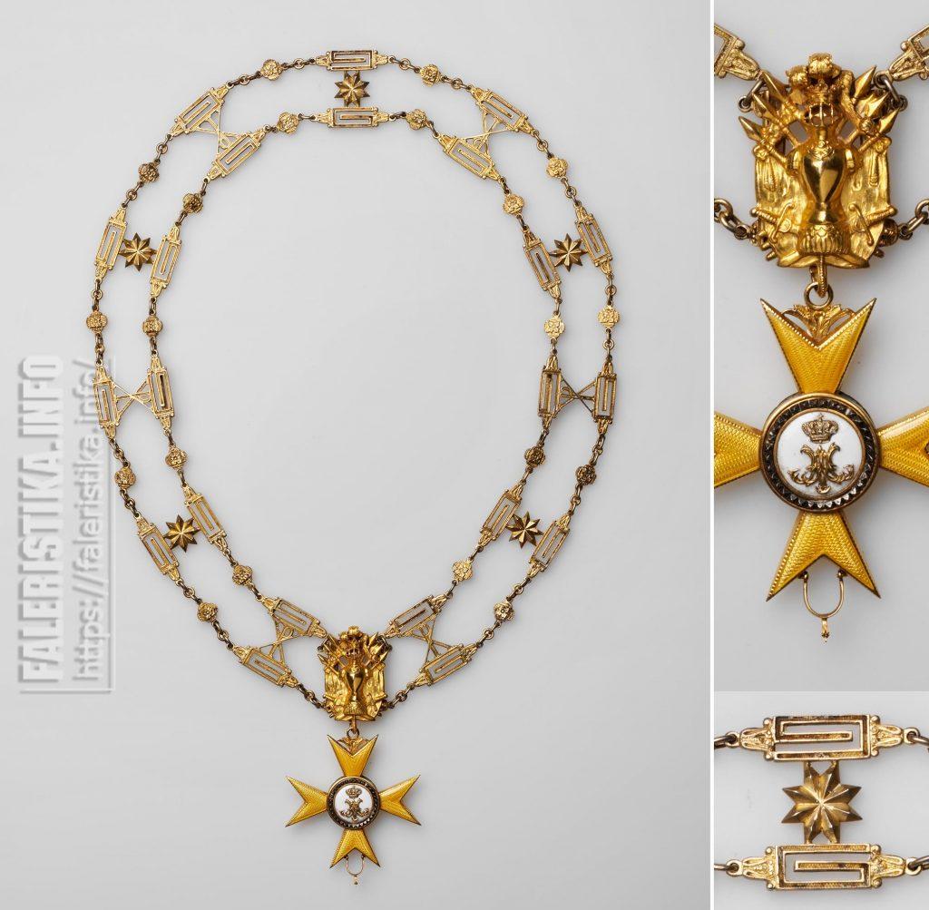 Орден Золотой Шпоры или Золотого Воинства (Ordine dello Speron d'Oro o Milizia Aurata). Цепь ордена со знаком и звездой. Рим, после 1905