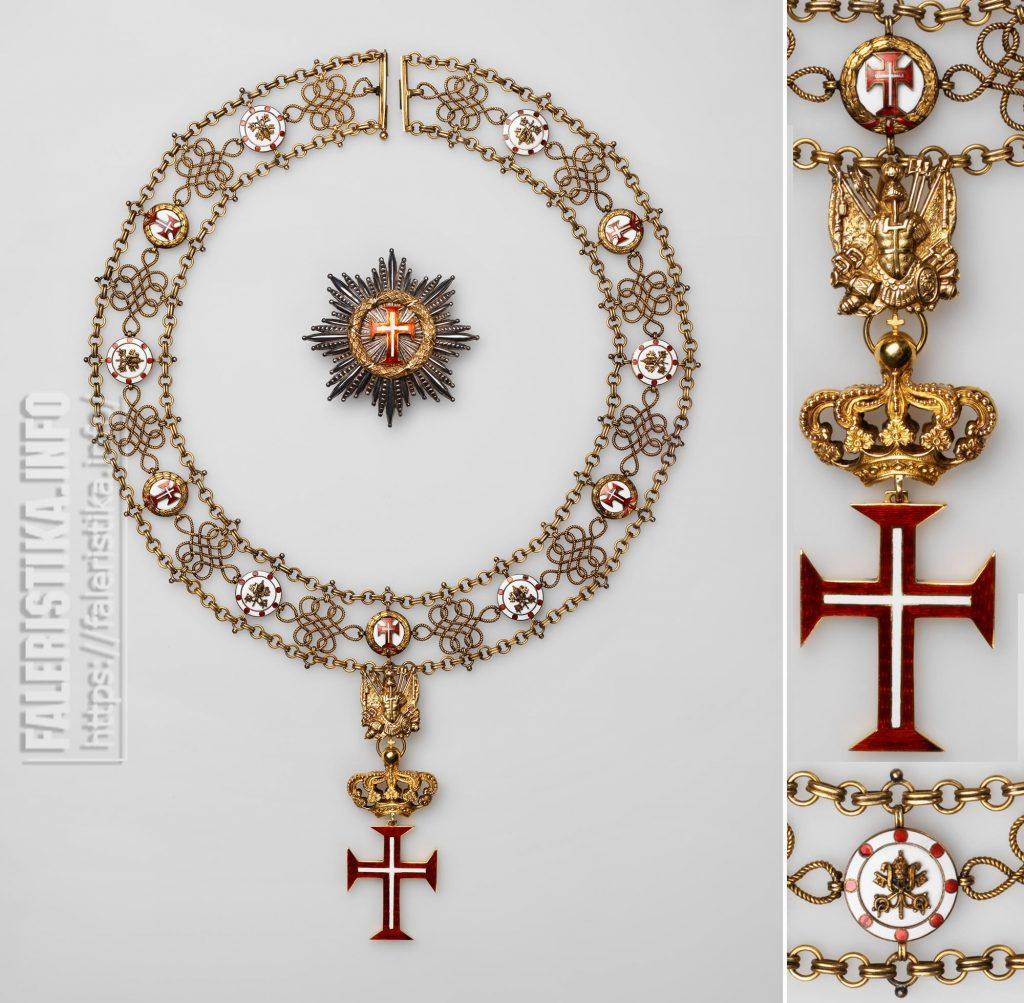 Верховный орден Христа (Ordine Supremo del Cristo). Цепь ордена со знаком и звездой. Рим, вторая половина XIX - начало XX в.