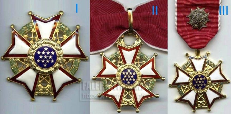 США. Орден «Легион почёта» (англ. Legion of Merit) I, II, III степеней