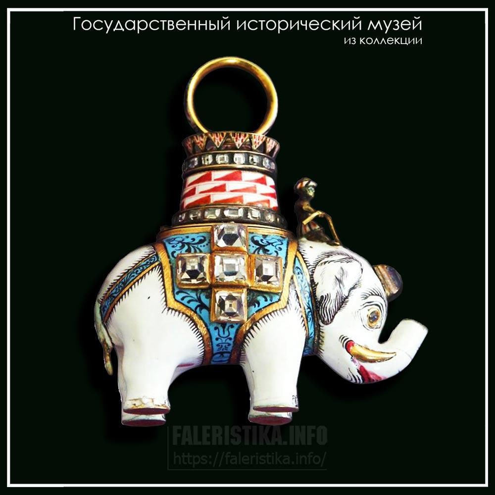 Знак ордена Слона. Кристиансен Н. ювелир. 1771-1832. 1808 (Государственный исторический музей)