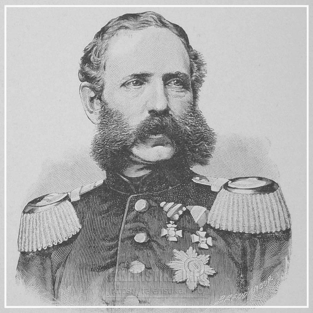 Кронпринц Саксонии Альберт (позже Король Саксонии Albert von Sachsen; 1828—1902). Гравюра
