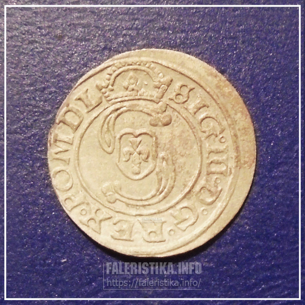 Биллоновый солид Сигизмунда III. Аверс