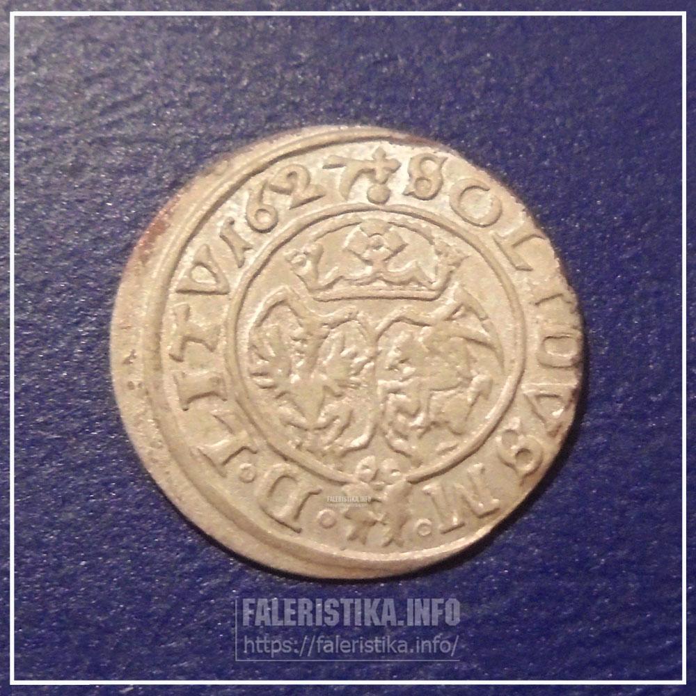 Билоновый солид Сигизмунда III. Реверс