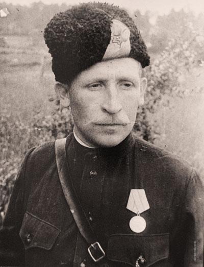 Портрет командира советского партизана Дуняева