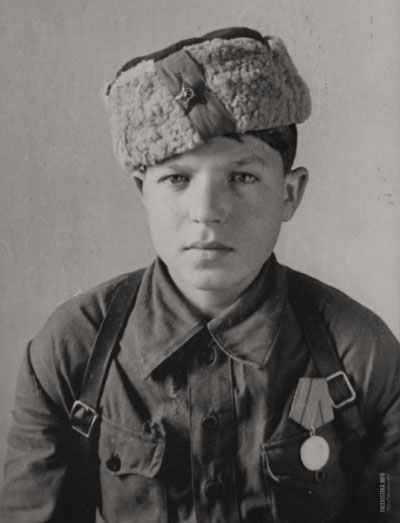 Михаил Хавдей (14 лет) из состава Черниговско-Волынского соединения генерал-майора А.Ф. Федорова