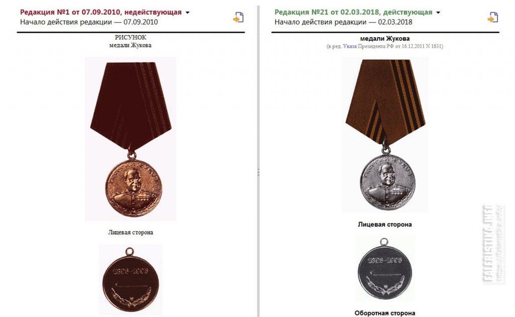 """Перерождение медали """"Жукова"""""""