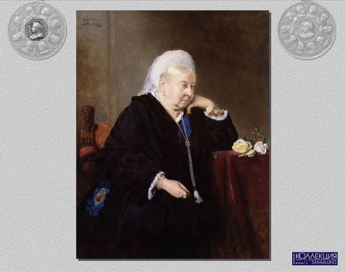 Генрих фон Ангели (нем. Heinrich von Angeli; 1840—1925). (by Bertha Müller) Портрет 80-летней королевы Виктории. 1899 Холст, масло. 118,1 x 91,4. Национальная Портретная Галерея, Лондон. NPG 1252