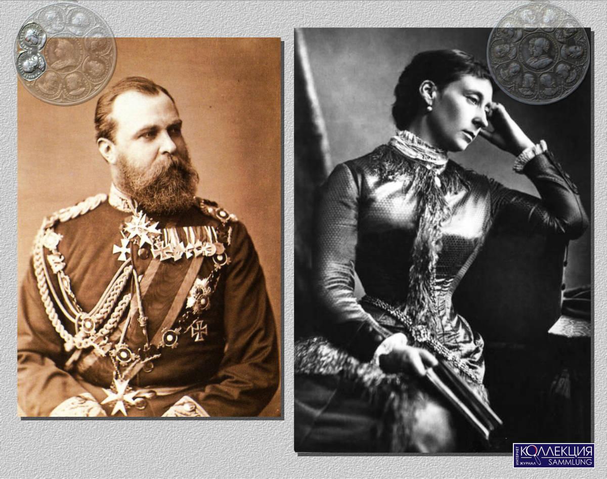 Неизвестный автор. Людвиг IV,  великий герцог Гессенский и Прирейнский. Гессен, Дармштадт, Германская Империя, Фото 1878. Александр Бассано (1829-1913). Принцесса Алиса (позже великая герцогиня Гессенская). Около 1875