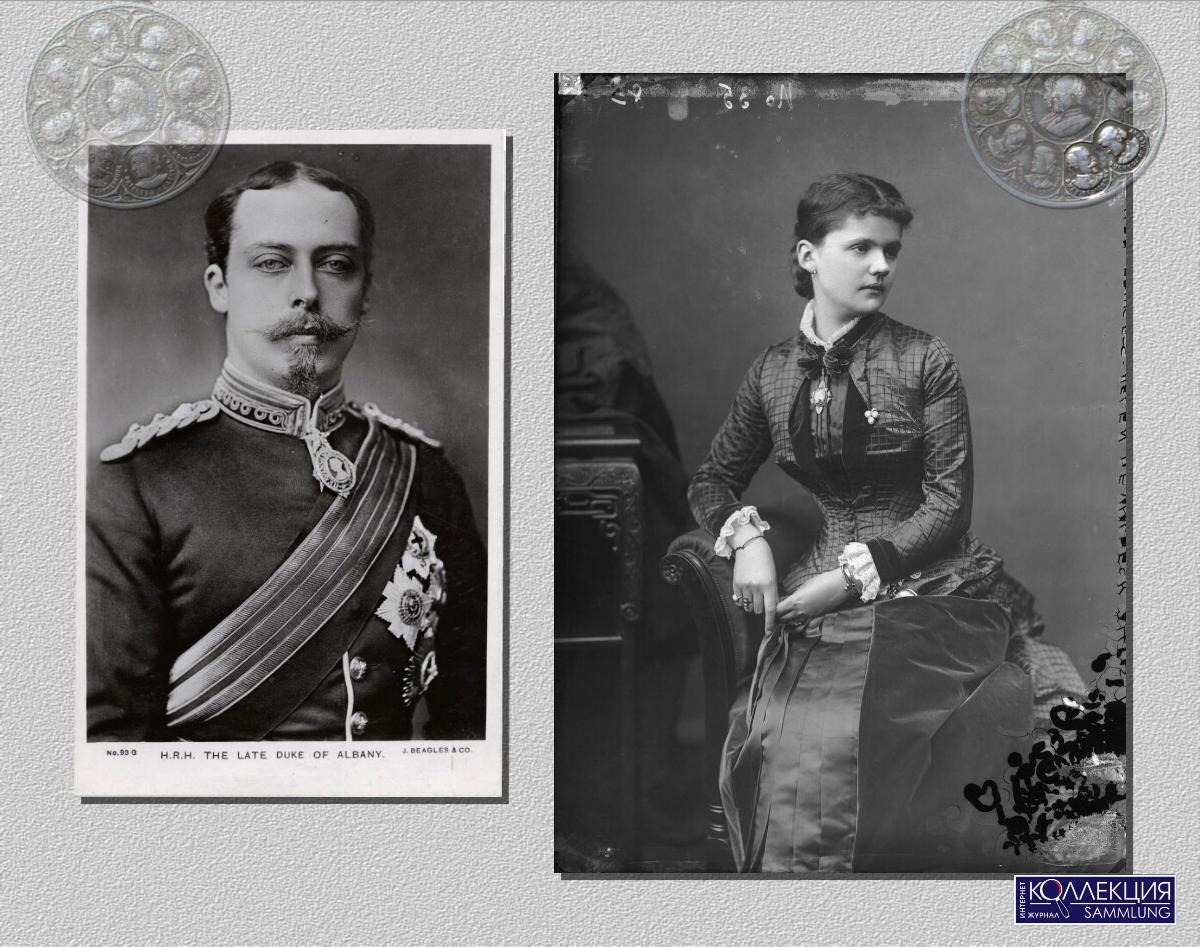 Покойный Принц Леопольд, герцог Олбани. Почтовая карточка J. Beagles & Co. После 1884. Автор неизвестен. Принцесса Елена, герцогиня Олбани. 1880-е. National Portrait Gallery