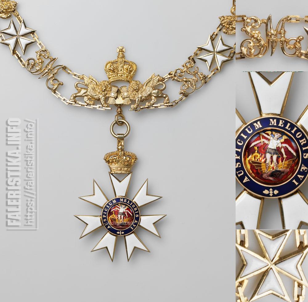 Орден Св. Михаила и Св. Георгия. Цепь. Фрагмент. Цепной знак. Аверс. Частная коллекция
