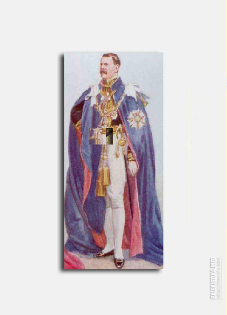С цветного открытого письма. Орден Св. Михаила и Св. Георгия. Церемониальные одежды. Цепь. Цепной знак