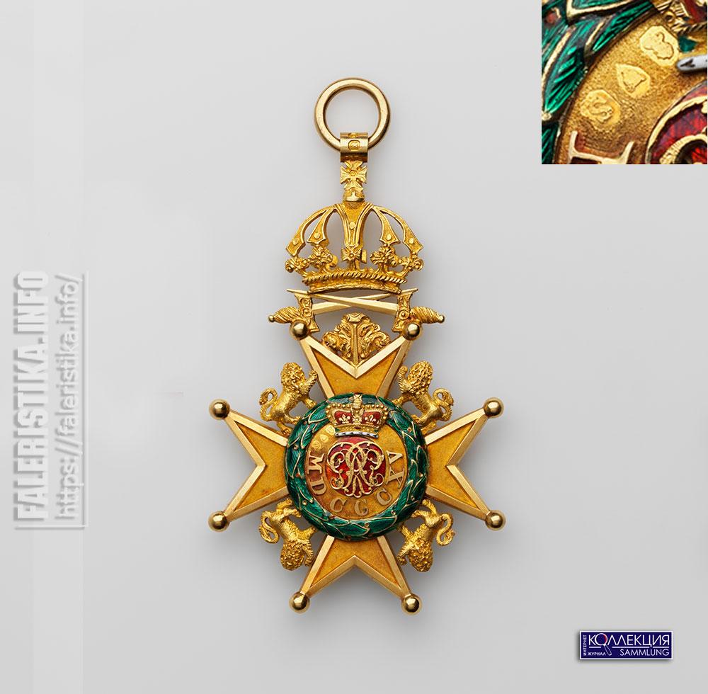 Королевский Орден Гвельфов. Знак рыцаря Большого креста. Реверс. Лондон, 1833-1834